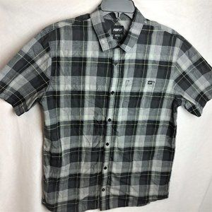 Fox Racing Plaid Button Down Front Shirt